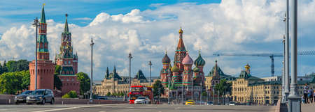 St. Basils Cathedral in Moscow, near Kremlin.Panorama