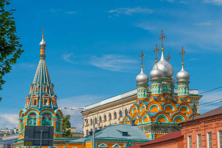 Orthodox Church of St. Grigory Neokesariisky of Neocaesaria with its onion domes, Moscow