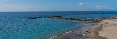 Costa Adeje with Duque Beach. One of the most popular beaches on Tenerife. panorama