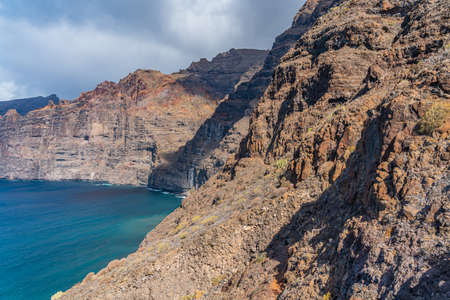 Beautiful view of Los Gigantes cliffs in Tenerife, Canary Islands, Spain. Scenery nature background