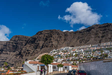 CANARY ISLAND TENERIFE, SPAIN - NOVEMBER 25, 2020: Costa Adeje with Duque Beach. One of the most popular beaches on Tenerife. 新闻类图片