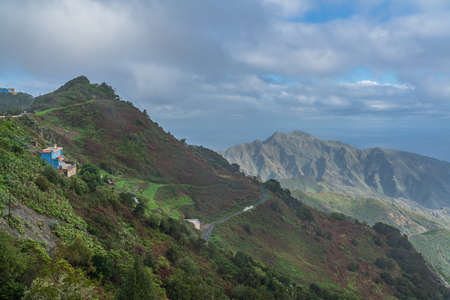 Panoramic view on Anaga mountains nature park in Tenerife, Canary Island, Spain