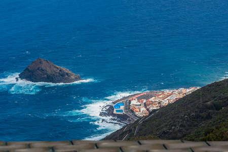 Panoramic aerial view of Garachico town. Tenerife. Canary Islands. Spain.