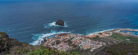 Panoramic aerial view of Garachico town. Tenerife. Canary Islands. Spain. panorama