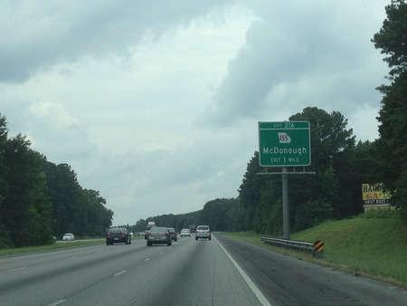 Interstate 75 Northbound south of Atlanta GA