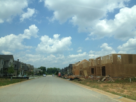 henry: Houses being built in new subdivision right Henry County GA