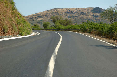 Empty Countryside road Mountain with Curve  photo