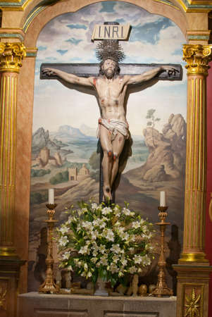 Jesus Christ Cross painting in the background Stock Photo - 5616917