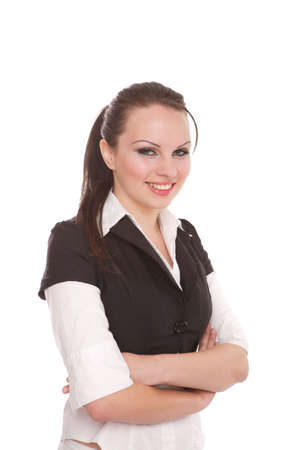 Attractive Businesswoman with her arms crossed Stock Photo - 7042153