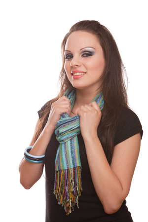 Portrait shot of women with scarf photo
