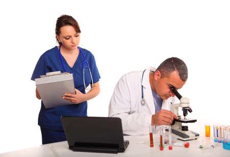 Researchers in laboratory