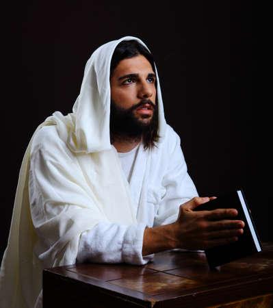 jesus praying: Jesus Christ of Nazareth looking up for answers