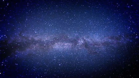 Milky Way in the heavens, photograph Stock Photo