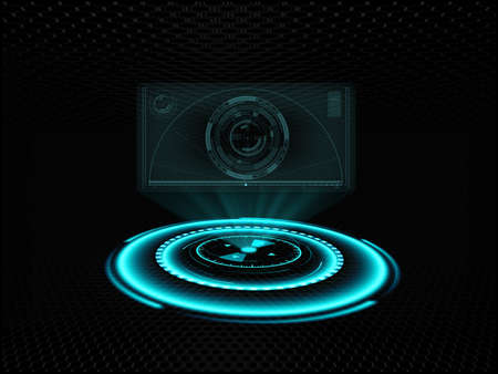 ホログラフィック スクリーン投影 写真素材 - 33502853