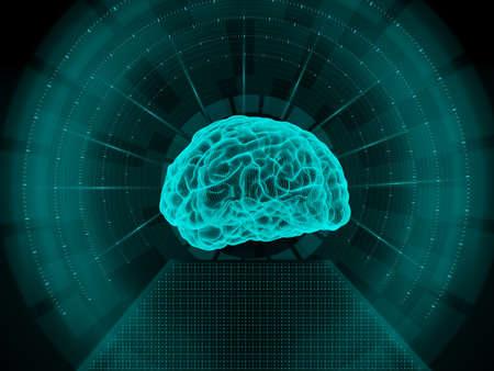 Scanner du cerveau humain Banque d'images - 54271699