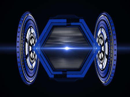 黒の背景に未来のヘッドアップ ・ ディスプレイ 写真素材 - 54676586