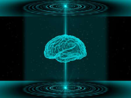 3 D 脳スキャナー 写真素材 - 69378042