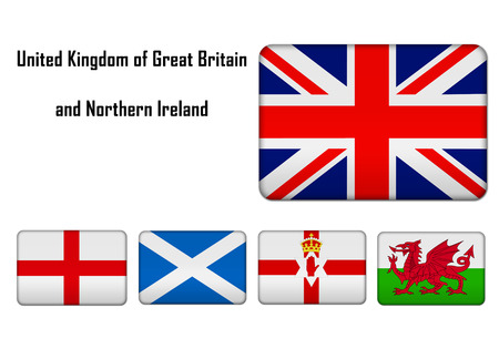 United Kingdom of Great Britain and Northern Ireland - flags and banners Imagens - 28687300