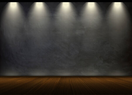black chalkboard in empty room photo