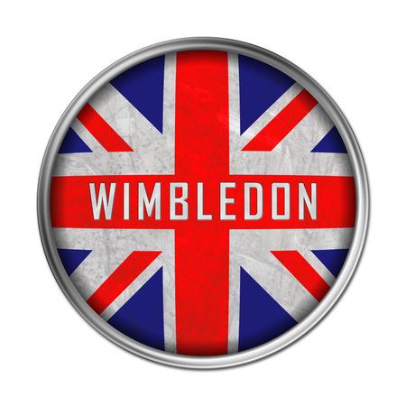 Wimbledon flag button 免版税图像