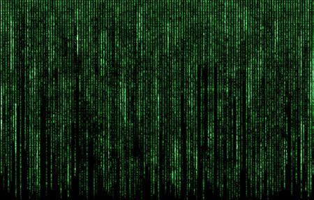 codigo binario: Números de código digital del verde en estilo de la matriz