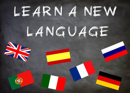 learn a new language 免版税图像