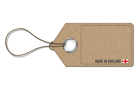 tax policy: Made in England - empty price label Stock Photo