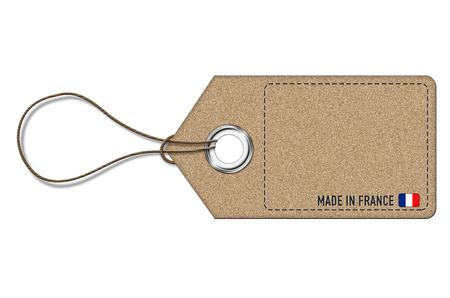 Made in France - empty price label Imagens - 28782042