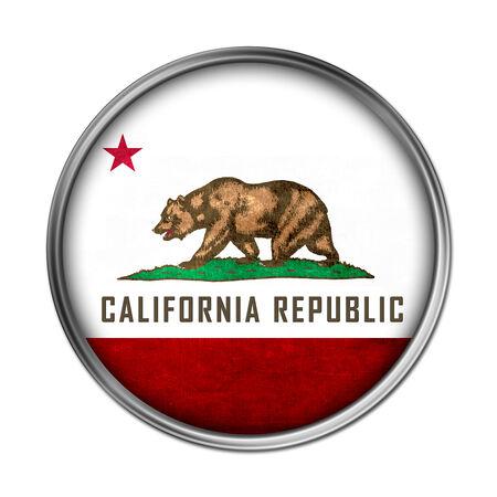 california flag: California flag button