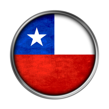 Chile flag button photo