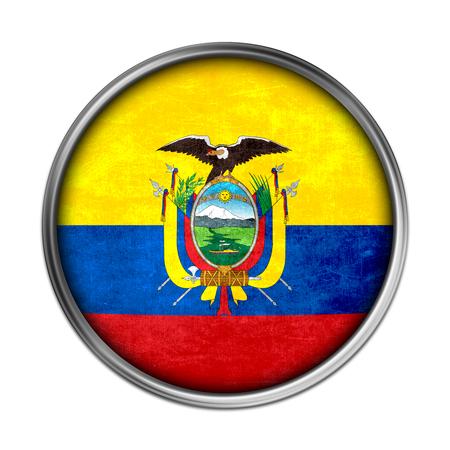 Ecuador Vector Flag Ecuador Flag Button Photo