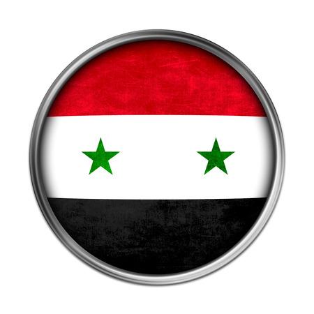 arab spring: Syria flag button Stock Photo