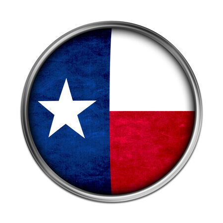 tx: Texas flag button Stock Photo