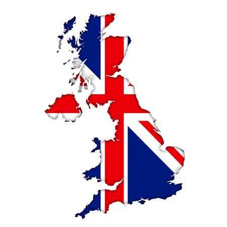 Britse vlag kaartpictogram Stockfoto