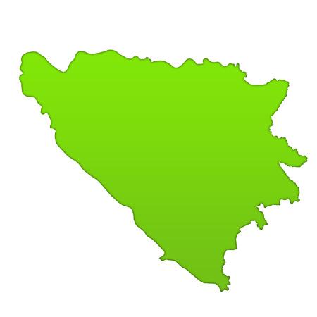 bosnian: Bosnia and Herzegovina country icon map Stock Photo