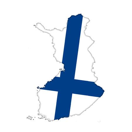 bandera de finlandia: Finlandia bandera icono del mapa