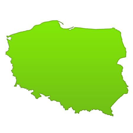 Poland country icon map photo
