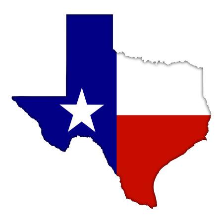 Texas flag map icon Stok Fotoğraf - 29384404