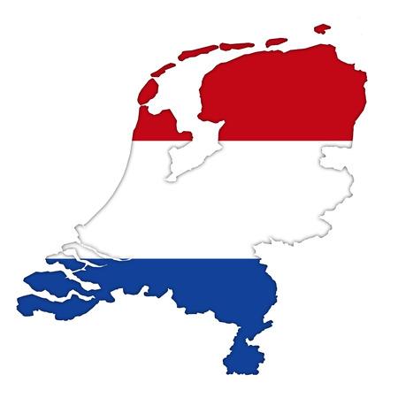 Netherlands flag icon map photo