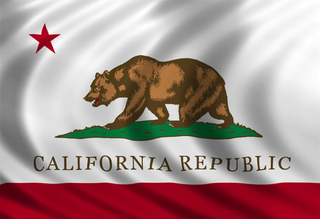 California flag of silk Imagens - 29001238