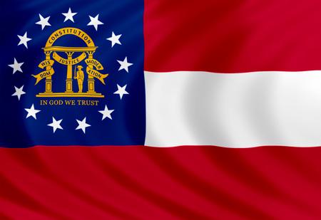 atl: Georgia flag of silk