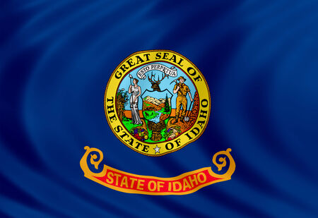 Idaho flag of silk Imagens