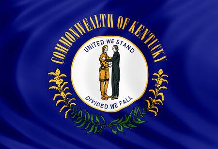 Kentucky flag of silk 免版税图像