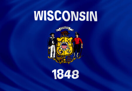 wisconsin flag: Wisconsin flag of silk