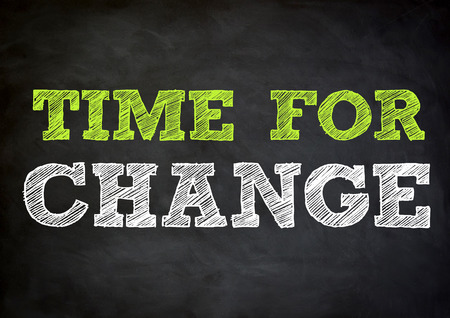project deadline: TIME FOR CHANGE  concept on chalkboard