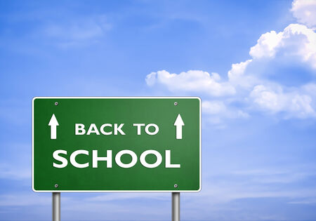 BACK TO SCHOOL - road sign concept photo