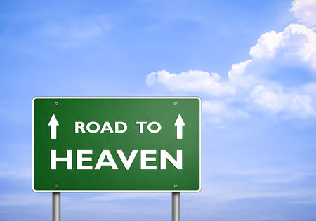 road to love: ROAD TO HEAVEN - road sign concept