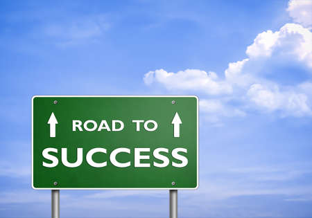 ROAD TO SUCCESS - road sign concept photo