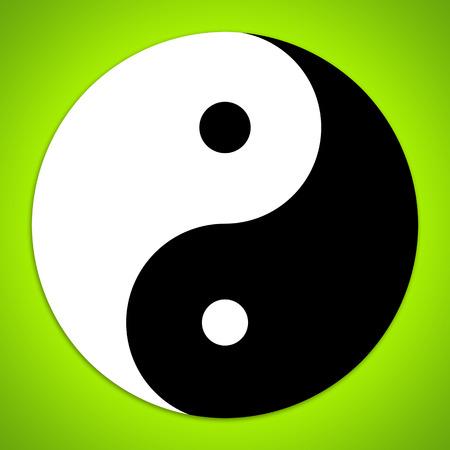 Yin and Yang symbol photo