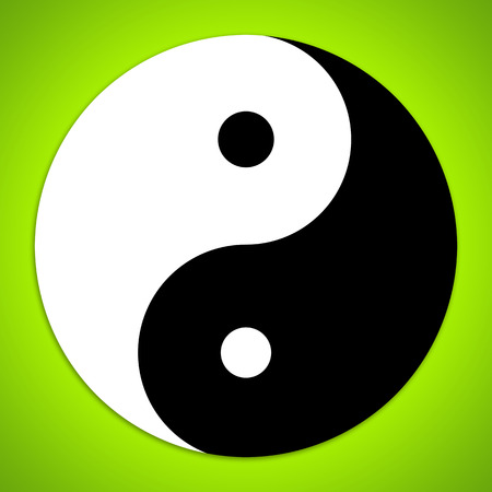 Yin and Yang symbol photo